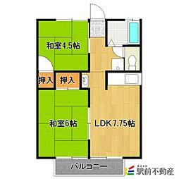赤司アパート[202号室]の間取り