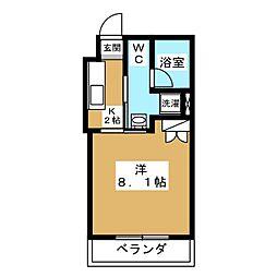 マルティ円町[4階]の間取り