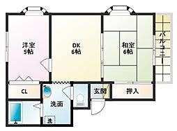 プレシャスハイムハシヅメ[3階]の間取り