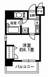 東京都中央区八丁堀2丁目の賃貸マンションの間取り