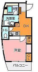 ロフォス新荘[301号室]の間取り
