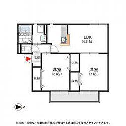 カーサジュネス 角田2 吉田14分[1階]の間取り