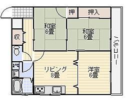 南埜第一マンション[305号室]の間取り
