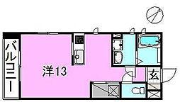 サクラガーデン[108 号室号室]の間取り