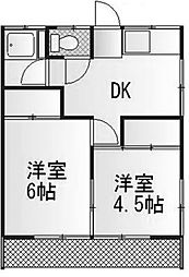 サクラ玉川コーポ[1階]の間取り