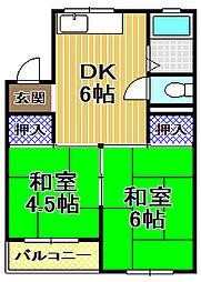 関西油送マンション[1階]の間取り