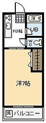 ラフォーレ清武[106号室]の間取り