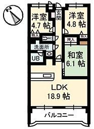 カーサ古江[5階]の間取り