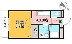 sanctuary〜サンクチュアリ〜[201号室]の間取り