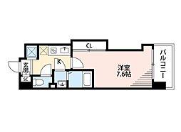 JR大阪環状線 芦原橋駅 徒歩3分の賃貸マンション 5階1Kの間取り