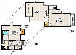 CB箱崎アヴニール[1階]の間取り