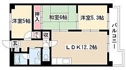 愛知県名古屋市南区大堀町の賃貸マンションの間取り