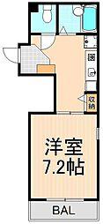 OLINPIAハイツ・業平[2階]の間取り