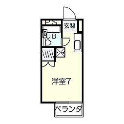 埼玉県本庄市けや木の賃貸アパートの間取り