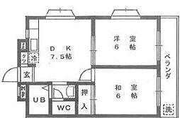 橋本ビルディング[402号室]の間取り