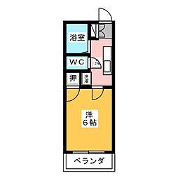 カーサベルデ松栄[2階]の間取り