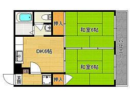 サンライブマンション[3−F号室]の間取り