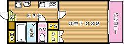 TAKAMATHU.BLD[205号室]の間取り