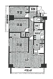 フォレステージュ武庫之荘[611号室]の間取り