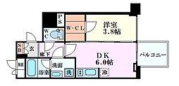 レオンコンフォート本町橋 11階1DKの間取り