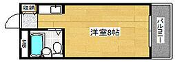 兵庫県神戸市灘区稗原町3丁目の賃貸マンションの間取り
