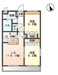 グランウッド雅[2階]の間取り