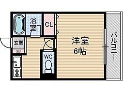 メゾネート筒井[2階]の間取り