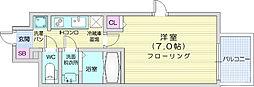 仙台市営南北線 北四番丁駅 徒歩5分の賃貸マンション 6階1Kの間取り