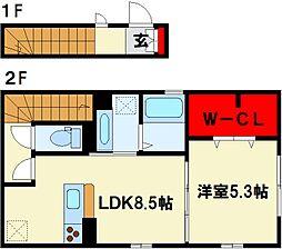 D-roomジュンセア[2階]の間取り
