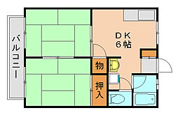 奥田ハイツ[2階]の間取り
