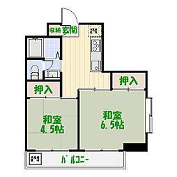 ファインクロス四番館[3階]の間取り