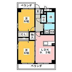 SUN NAGATA[3階]の間取り