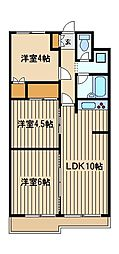 東京都西東京市東町5の賃貸マンションの間取り