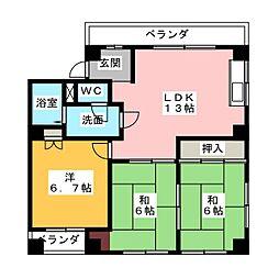 Y.S.H.[3階]の間取り