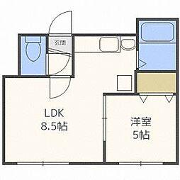 S−ing 1st[2階]の間取り