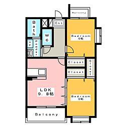 Coco横山[2階]の間取り