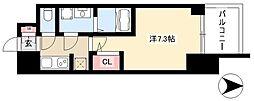 S-RESIDENCE本郷 9階1Kの間取り