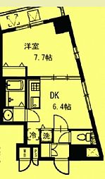 東京都台東区元浅草の賃貸マンションの間取り
