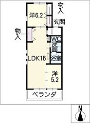 Cube kifune[2階]の間取り