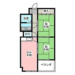 オークハイツ[1階]の間取り