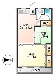 森商ビル[4階]の間取り