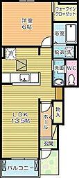 キーミーユー[1階]の間取り