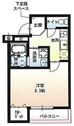 阪急宝塚本線 石橋阪大前駅 徒歩9分の賃貸アパート 3階1Kの間取り