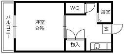 篠山ハイツ[305号室]の間取り