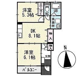 グローリアス・フェアリー 1階[103号室]の間取り