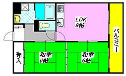 比枝コーポラス・上町I 505号室[5階]の間取り