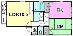 キャッスル森田[C-201 号室号室]の間取り