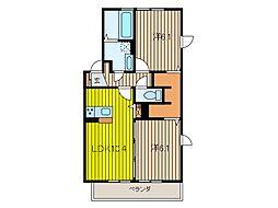 (仮)大谷口D-room B棟[1階]の間取り