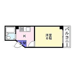 ブロードウェイ壱番館[2階]の間取り