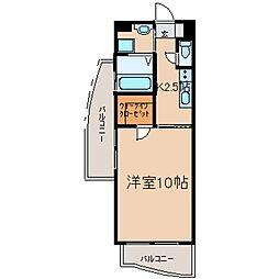 東京都日野市神明1丁目の賃貸マンションの間取り
